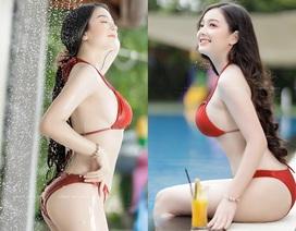 Cô gái mặc áo dài đẹp như Mai Phương Thúy khi diện bikini lại bốc lửa không ngờ