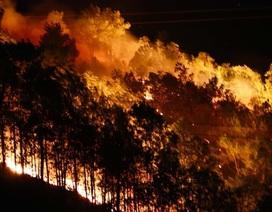 Rừng lại cháy ngút đỉnh, huy động hàng trăm người dập lửa trong đêm