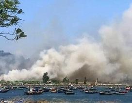 Đà Nẵng: Cháy lớn ở rừng tràm dưới chân núi Sơn Trà