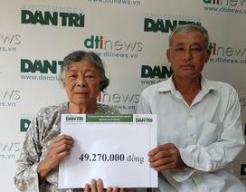 Bạn đọc Dân trí giúp đỡ mẹ già đau yếu lê lết chăm con tàn tật gần 50 triệu đồng