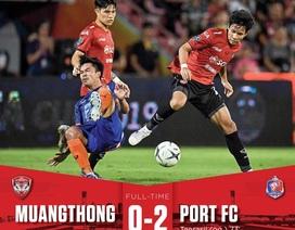Thủ thành Văn Lâm thủng lưới 2 bàn, Muangthong bị loại khỏi cúp quốc gia