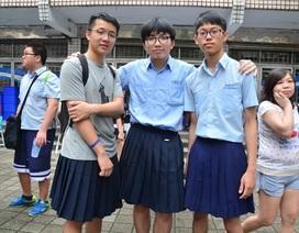 Nam sinh trung học ở Đài Loan được phép mặc… váy đi học