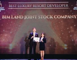 Bim Land tiếp tục nhận giải thưởng danh giá trong lĩnh vực BĐS cao cấp