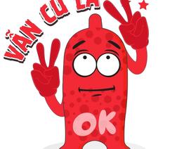 Bao cao su OK gần gũi hơn với giới trẻ khi tung ra bộ sticker ngộ nghĩnh trên Zalo