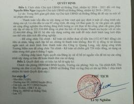 Sai phạm trong quản lý đất đai và tài chính, chủ tịch xã bị cách chức