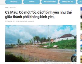 Đăng thông tin sai về nhà đất của Chủ tịch Cà Mau, một trang điện tử bị đề nghị xử lý