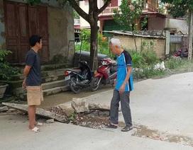 Sau tiếng nổ lớn trong lòng đất, xuất hiện vết nứt gãy trên đường và nhà dân