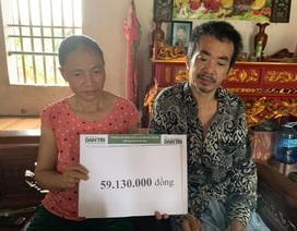 Người đàn ông bị tai nạn suýt chết trên bờ mương được bạn đọc Dân trí giúp đỡ gần 60 triệu đồng