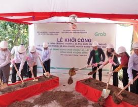 """Khởi công xây dựng hai cây cầu đầu tiên của Dự án """"Cùng Grab Chung Tay - Xây Cầu Đến Lớp"""""""