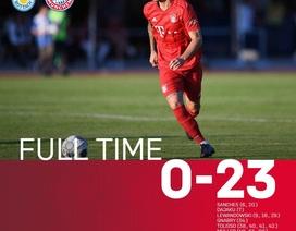 """Đá giao hữu, Bayern Munich """"nã"""" 23 bàn vào lưới đối thủ"""