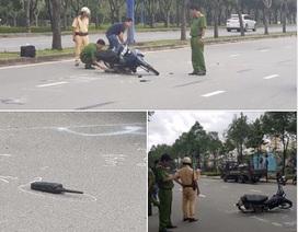Thiếu tá Cảnh sát giao thông bị người vi phạm tốc độ tông trọng thương