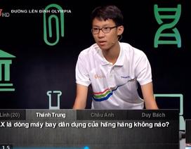 Thí sinh Tiền Giang giành số điểm cao thứ 3 Olympia 2019