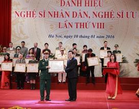 391 nghệ sĩ chính thức được truy tặng, phong tặng Nghệ sĩ Nhân dân, Nghệ sĩ Ưu tú