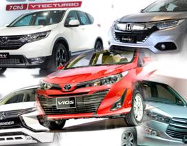 """""""Họ nhà Toyota"""" giảm giá vẫn không kéo nổi doanh số; """"Ngôi sao"""" Xpander, CRV mất khách"""