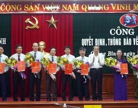 Quảng Bình điều động, bổ nhiệm 13 lãnh đạo chủ chốt