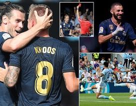 Modric bị thẻ đỏ, Real Madrid vẫn thắng thuyết phục Celta Vigo
