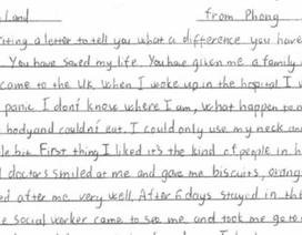 Lá thư cảm ơn của thiếu niên Việt bị tội phạm buôn người nhét trong vali ở Anh