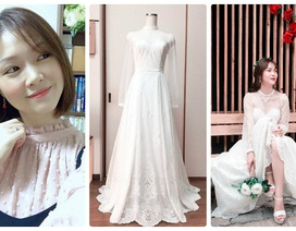 """Cô gái xinh xắn dành 3 tháng tự tay may váy cưới gây """"sốt"""" mạng"""