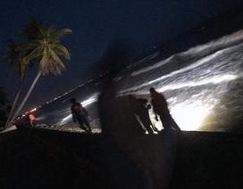 Đang khẩn trương tìm kiếm 4 du khách bị cuốn trôi trên biển Bình Thuận