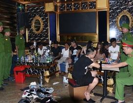 """""""Mở tiệc"""" ma túy trong quán Karaoke, hàng chục đối tượng bị bắt giữ"""