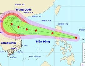 Xuất hiện bão Podul gần Biển Đông