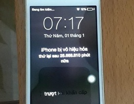 Bi hài chiếc iPhone bị khóa máy gần... 50 năm tại Hà Nội