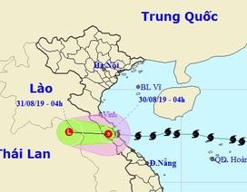 Bão số 4 suy yếu thành áp thấp nhiệt đới, nhiều nơi mưa to