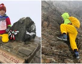 Thực hiện lời hứa với mẹ, bé 8 tuổi chinh phục đỉnh núi cao 3952 mét