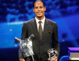 Vượt C.Ronaldo và Messi, Van Dijk giành giải Cầu thủ xuất sắc nhất châu Âu