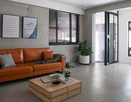 Phá cách với căn hộ làm bằng tường xi măng