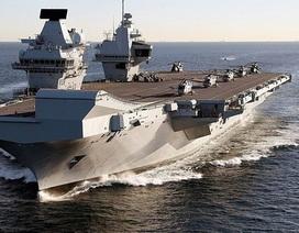 Tàu sân bay 4 tỷ USD của Anh một tuần bị lụt một lần
