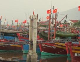 Hàng loạt tàu cá của ngư dân làng biển nằm bờ vì thua lỗ