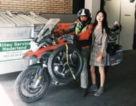 Người mẹ lái mô tô qua 25 quốc gia để gặp con gây xúc động