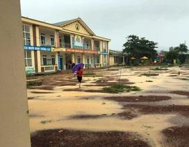 Hà Tĩnh: 222 trường không thể tổ chức lễ khai giảng do mưa lũ
