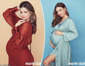 Người mẫu Miranda Kerr khoe vẻ đẹp khi mang bầu lần 3