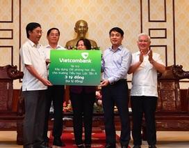 Vietcombank tài trợ 3 tỷ đồng xây dựng 08 phòng học lầu cho trường tiểu học Lộc Tấn A huyện Lộc Ninh tỉnh Bình Phước