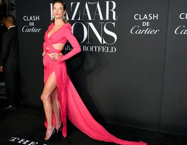 Alessandra Ambrosio diện váy xẻ tứ bề