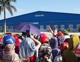 Nghệ An: Gần 1.000 công nhân nhà máy may Wooin Vina đình công
