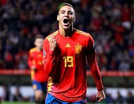Rodrigo và Alcacer lập cú đúp, Tây Ban Nha toàn thắng cả 6 trận
