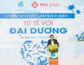 Khí thế thanh niên Bình Định trong ngày đầu ra quân làm sạch biển