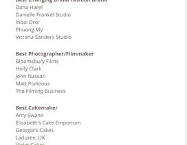 PHUONG MY Bridal được đề cử giải thưởng lớn tại Anh