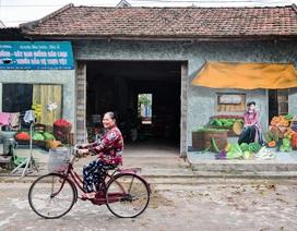Bích họa lạ lẫm ở làng nông nghiệp ngoại thành Hà Nội