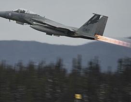 """Máy bay chiến đấu """"đại bàng"""" của Mỹ suýt đâm phải người nhảy dù"""