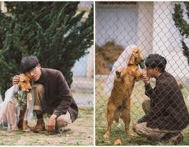 """Bị gia đình giục cưới, 9x Đà Lạt bất ngờ chụp ảnh """"hỏi cưới"""" với chó cưng"""