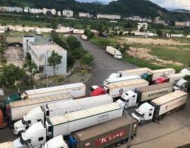 """Hàng trăm xe nông sản vẫn """"bất động"""" ở cửa khẩu, chờ sang Trung Quốc"""