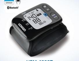 Máy đo huyết áp cổ tay đời mới có kết nối bluetooth
