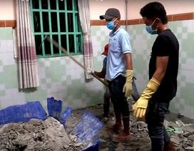 Thực nghiệm hiện trường vụ 2 người bị sát hại, đổ bê tông phi tang
