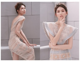 """Người mẫu Thuỳ Dương khoe thân hình """"mình hạc xương mai"""""""