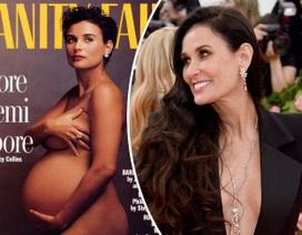 """Demi Moore nói về bức ảnh """"bà bầu khỏa thân"""" trên trang bìa Vanity Fair"""