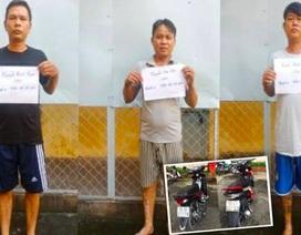 Truy đuổi từ TP Hồ Chí Minh đến Long An bắt 3 đối tượng dàn cảnh trộm tài sản